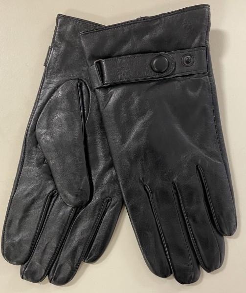 bake Fashion Herren Leder Handschuhe - schwarz