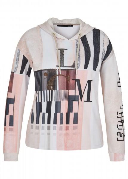 LeComte Damen Kapuzen Shirt - Perlmutt