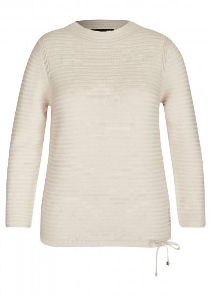 LeComte Pullover mit Zierschleife und Stehkragen in Perlmutt