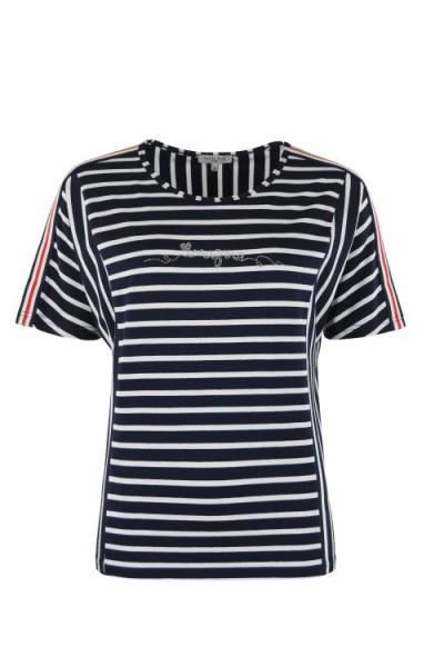 Hajo Damen Shirt Rundhals marine