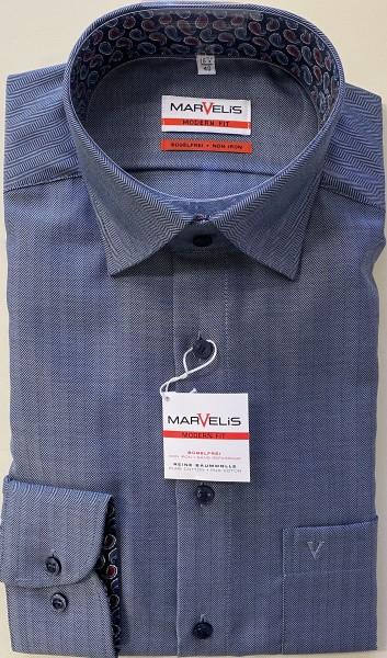 """Marvelis Hemd """"Modern Fit"""" langarm - marine"""