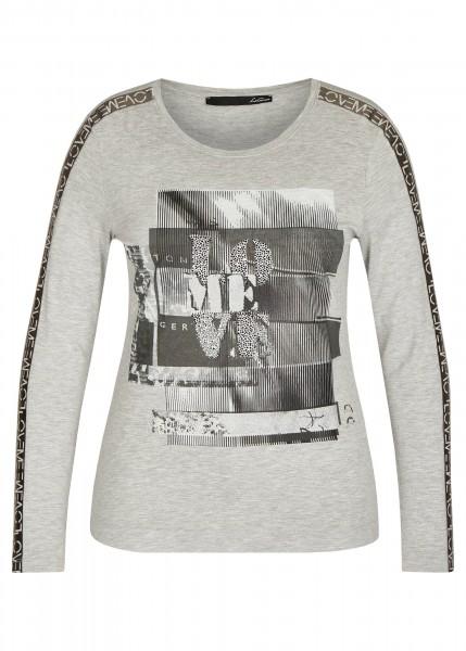 LeComte Shirt mit Grafischen Elementen und Glitzersteinen in Silber